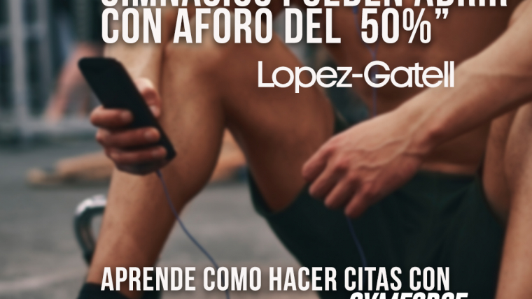 Gimnasios pueden reabrir pero con aforo de 50% Lopez-Gatell